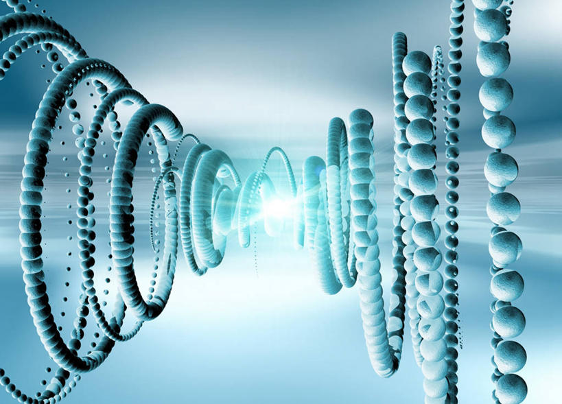横图,插画,室内,白天,正面,数码,分子,科技,一排,许多,阴影,蓝色背景