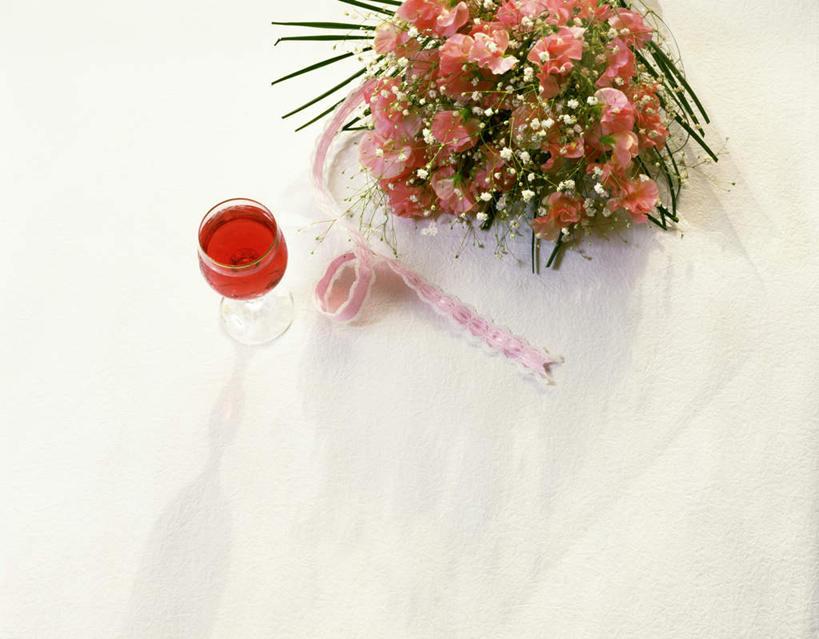 玫瑰花,红酒杯,浪漫,花蕾
