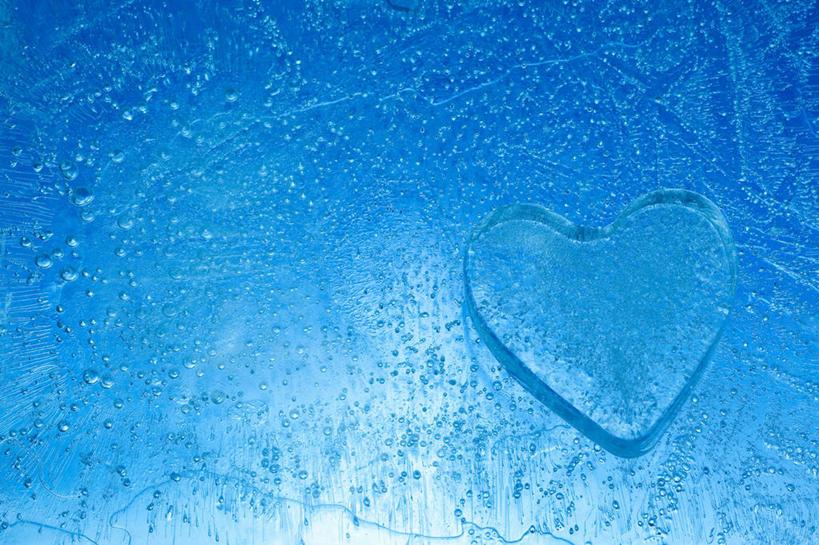 无人,横图,室内,特写,白天,正面,爱情,蓝色背景,爱心,透明,冰,冰块