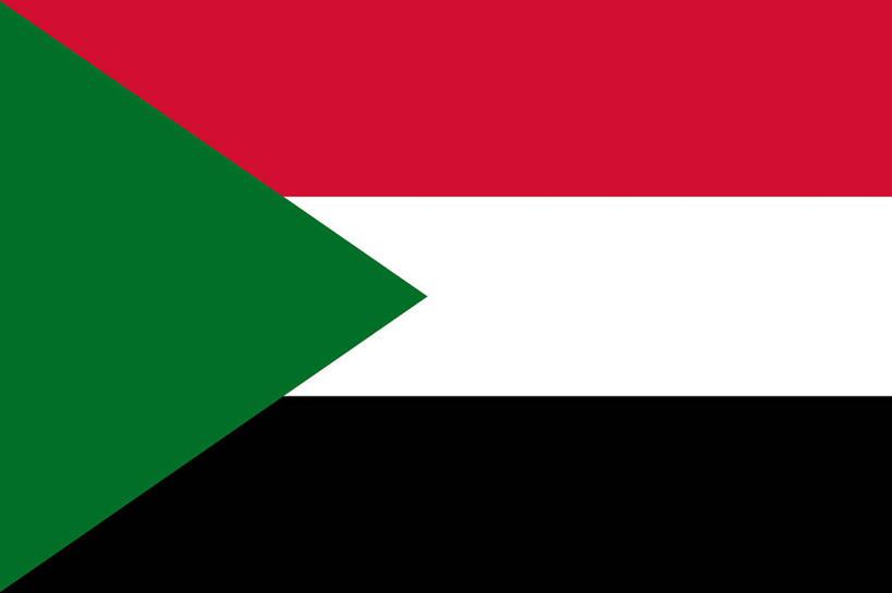 白天,正面,静物,旗帜,国旗,一面,条纹,三角形,图形,几何,红色,绿色