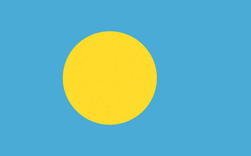 国旗,一面,圆形,图形,圆,几何,黄色,蓝色,数学,圆月,旗,彩图,几何图形