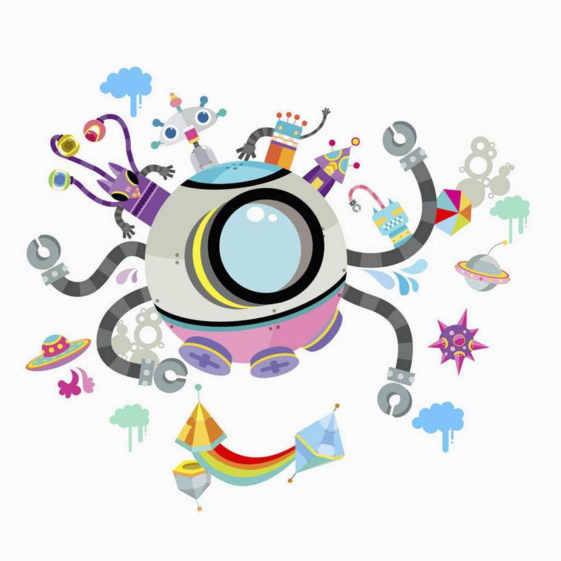 太空,网络,草帽,云,云朵,交通,高光,几何,计算机图形,合成,云彩,图画