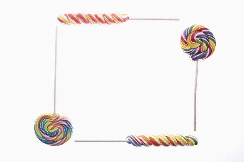 无人,横图,彩色,室内,特写,白天,白色背景,正面,环绕,围绕,棒棒糖
