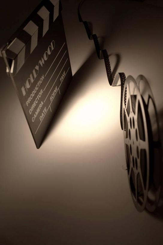 电影打板黑白矢量图