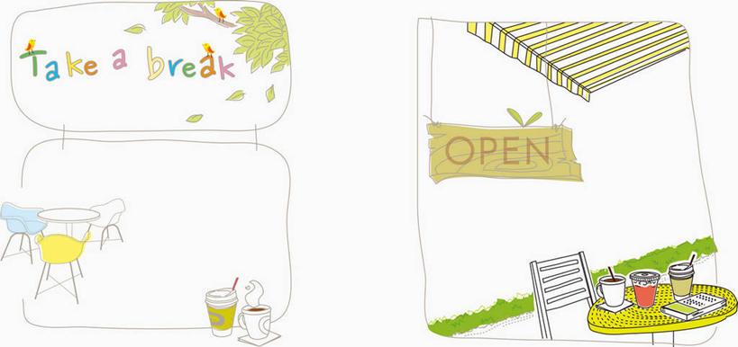 英语a4小报边框设计桌子