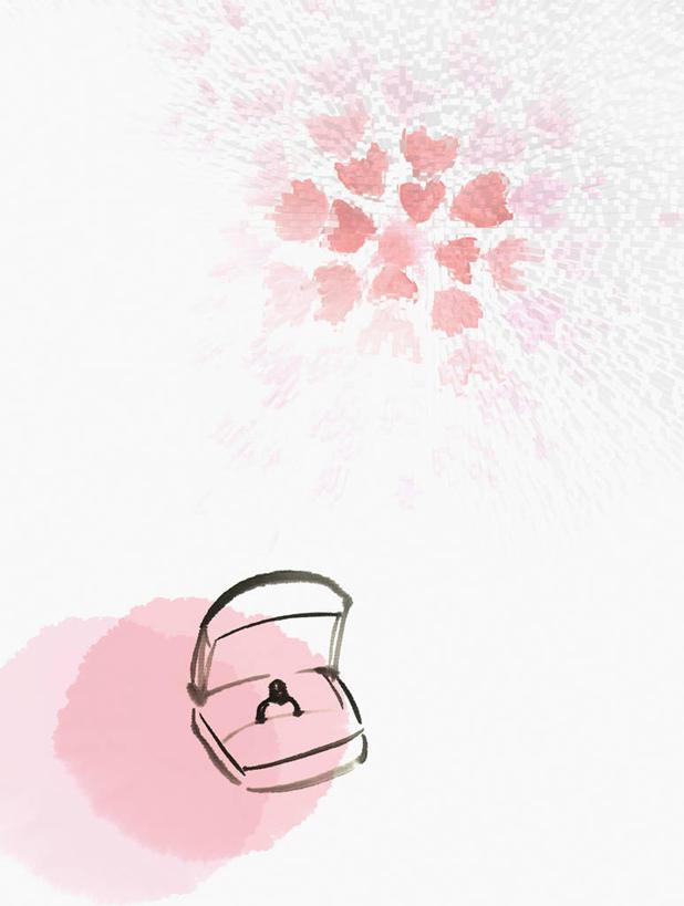 无人,竖图,插画,室内,白天,白色背景,正面,爱情,奢侈,数码,科技,珠宝
