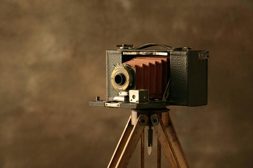 三脚架,一部,稳定,巩固,照相机,彩图,影棚拍摄,拍摄,照相,传统相机