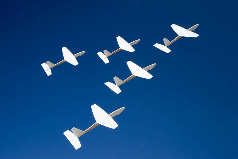 无人,横图,室内,特写,白天,正面,飞机,静物,蓝色背景,艺术,折纸,纸艺