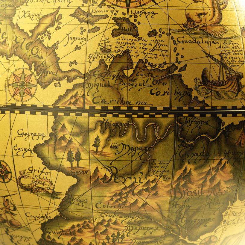 地图,阴影,反射,网格,地球仪