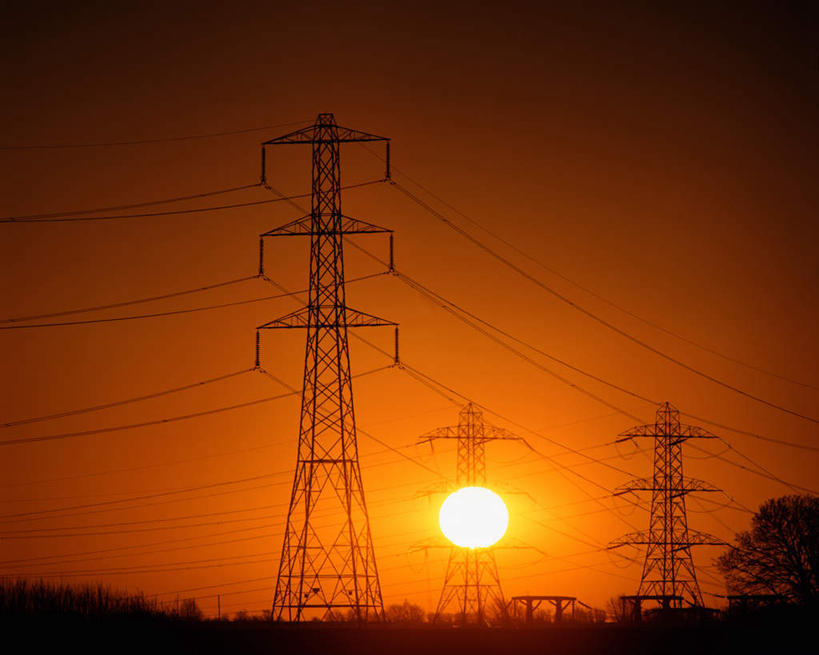 高压电塔,高压输电线,高压电线塔