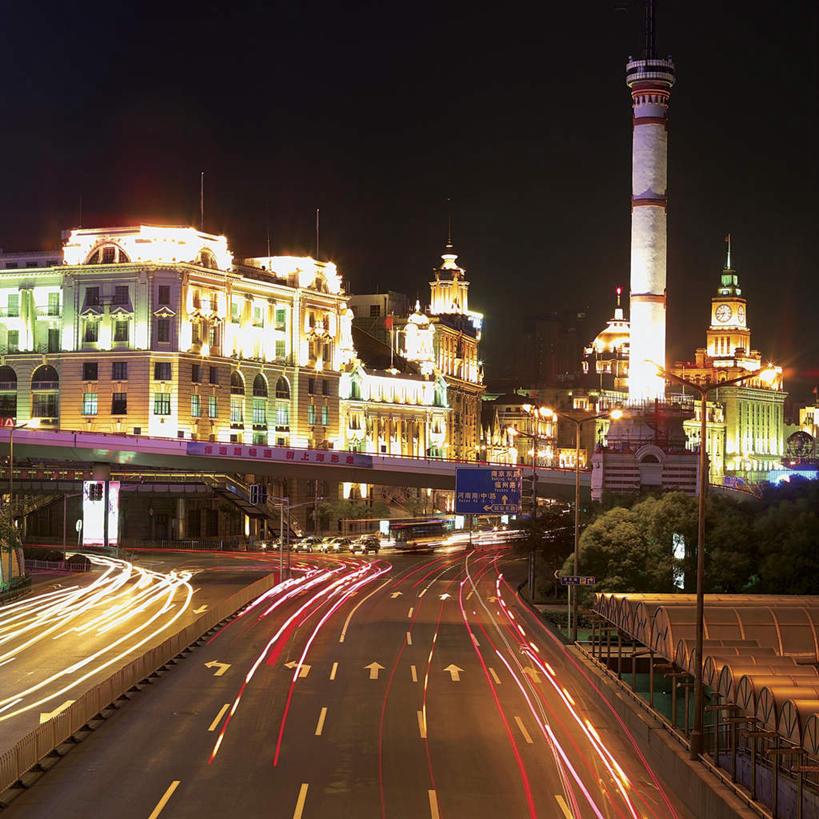 無人,高樓大廈,方圖,室外,夜晚,正面,長時間曝光,度假,美景,植物,城市