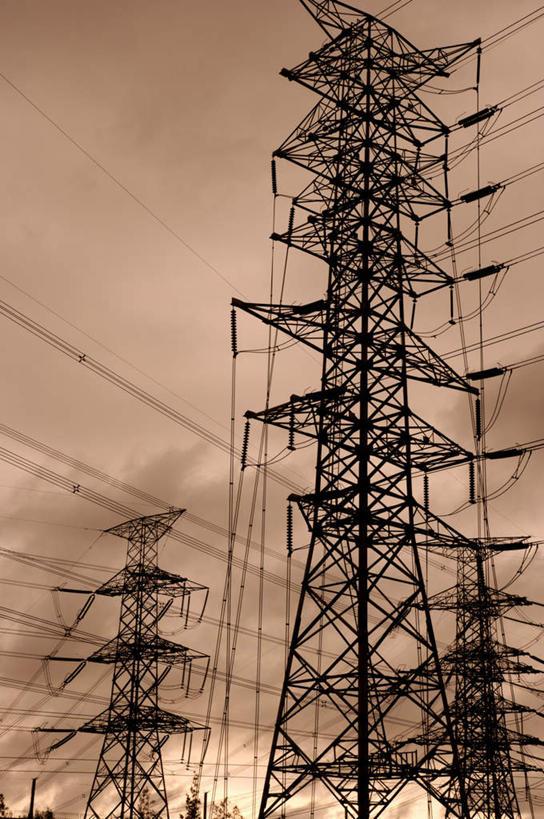 东亚,高压电塔