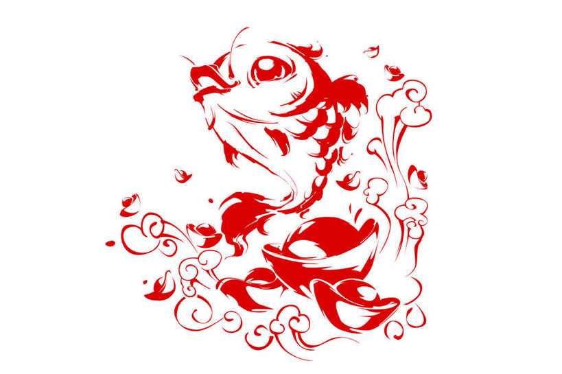 红鲤鱼窗花步骤