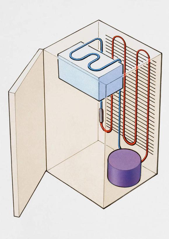 冰箱平行透视图