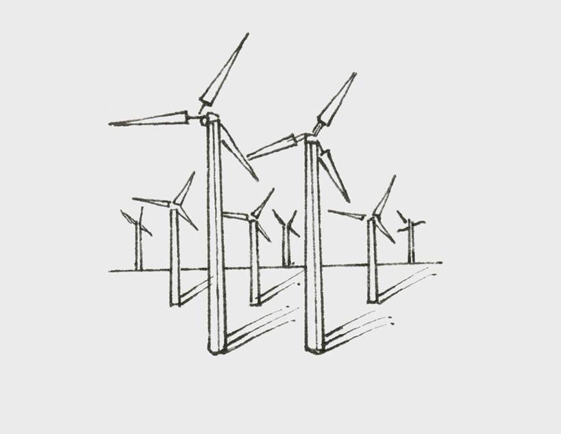 风车黑白矢量图素材