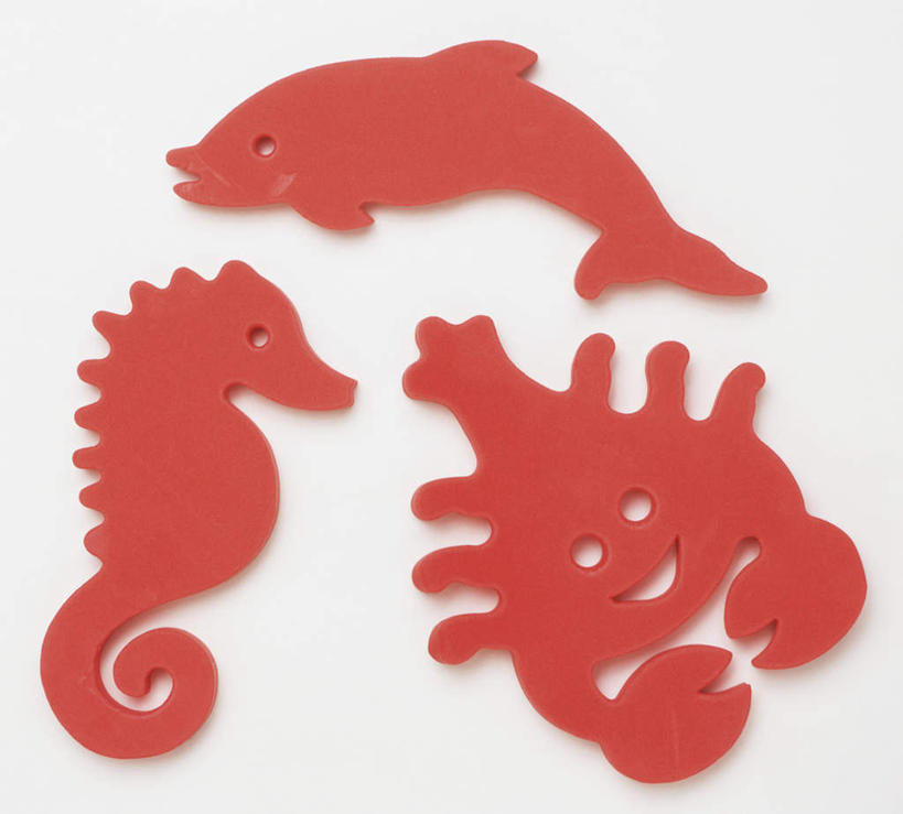 海马动物剪纸图案步骤