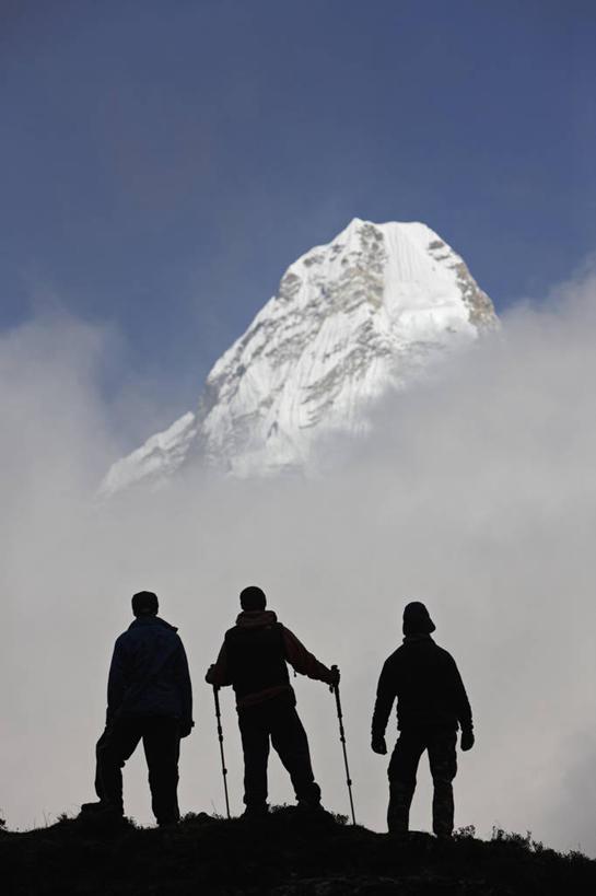 休闲,景色,放松,摄影,灵感,自然风光,剪影,冰河,喜马拉雅山脉,登山杖