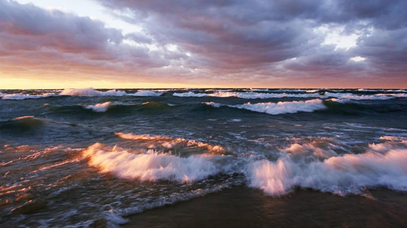 無人,橫圖,室外,白天,海浪,日落,水,風,美國,云,冬天,風景,天空,波浪