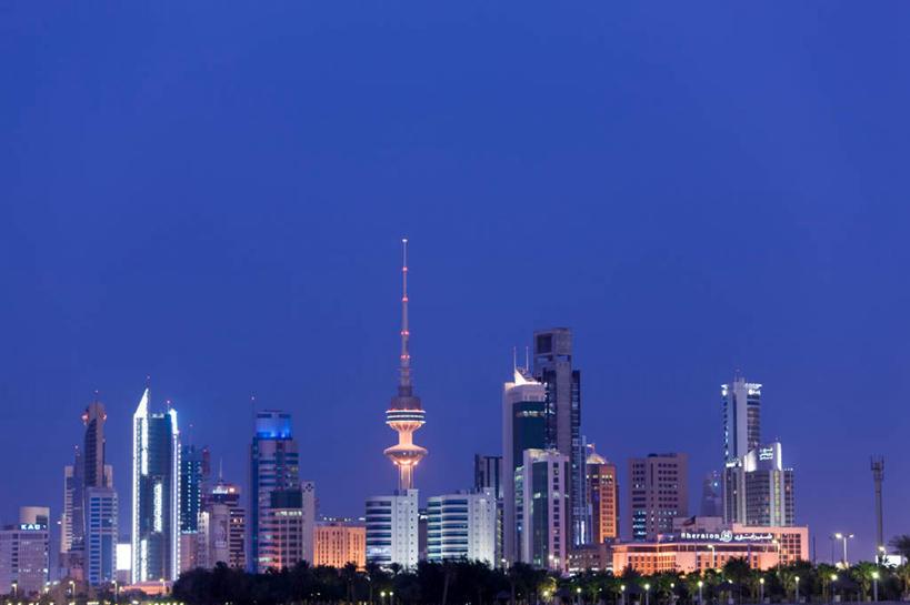 城市风光,标志建筑,城市,大厦,地标,建筑,摩天大楼,霓虹灯,科威特