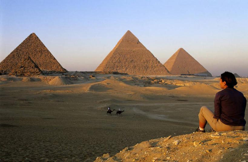 古夫埃及金字塔简笔画