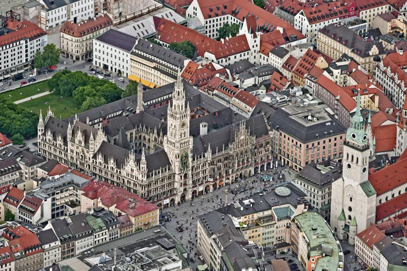 西欧城市风景图