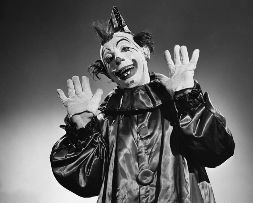 qq头像黑白小丑微笑