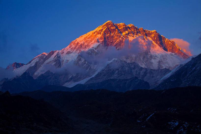 休闲,景色,彩霞,放松,寒冷,冰冷,自然风光,南亚,喜马拉雅山脉,尼泊尔