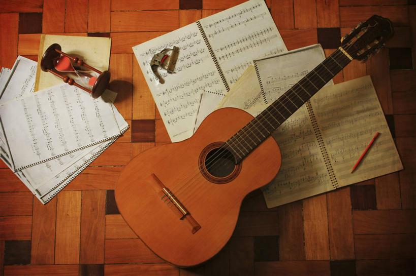 时间,材料,木板,木材,吉他,乐器,弦乐器,地面,音乐,木地板,木柴,铅笔