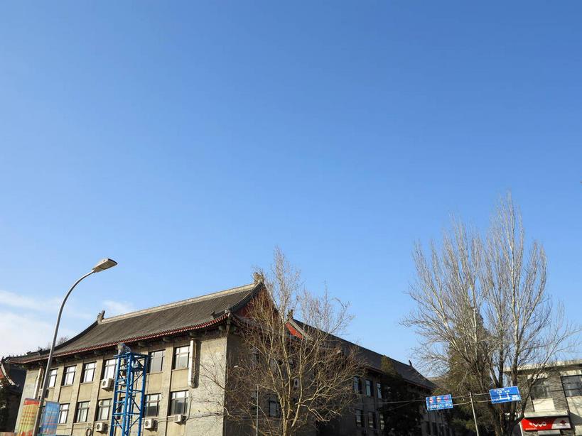 无人,学校,教学楼,横图,室外,白天,仰视,旅游,度假,植物,窗户,标志