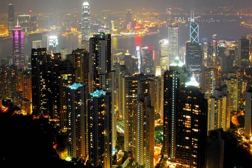 无人,家,高楼大厦,横图,全景,俯视,航拍,彩色,室外,夜晚,长时间曝光