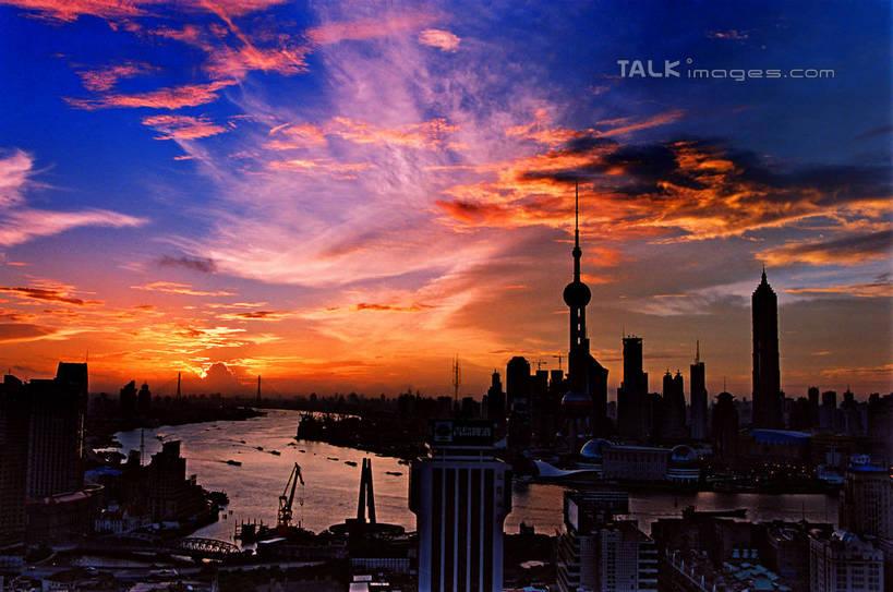 无人,高楼大厦,横图,全景,俯视,航拍,室外,白天,度假,河流,美景,日落