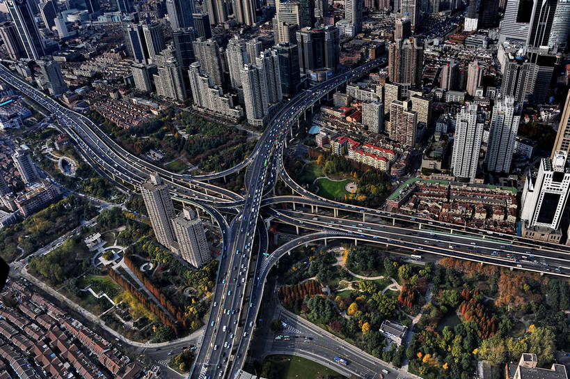 天际线,植物,城市风光,城市,大桥,大厦,道路,建筑,路,摩天大楼,桥梁
