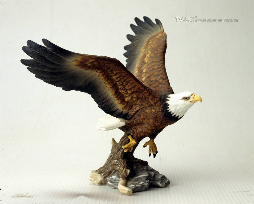 无人,横图,室内,特写,白天,白色背景,侧面,鸟,野生动物,鹰,静物,雕塑