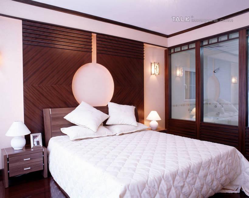 欧式卧室白天效果图