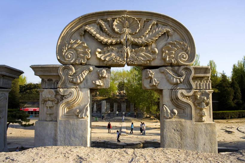 石头,建筑,北京,圆明园,中国,亚洲,清澈,遗迹,石子,亭子,文化遗产