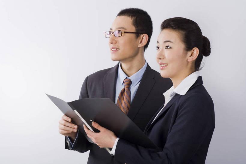 商务人士,办公室,微笑,横图,彩色,室内,白天,西装,商务,成功,合作