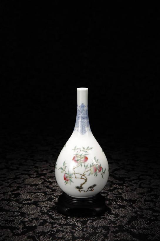 竖图,彩色,室内,白天,绘画,静物,北京,中国,花纹,风俗,纹路,彩绘,瓷器