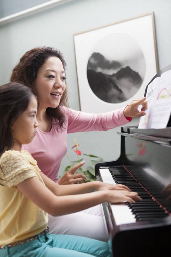 成人钢琴学生图片